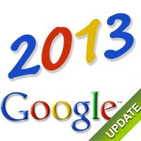 Aggiornamenti Google nel 2013