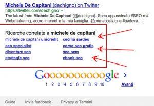 Ecco dove sono le ricerche correlate suggerite in fondo alla SERP di Google