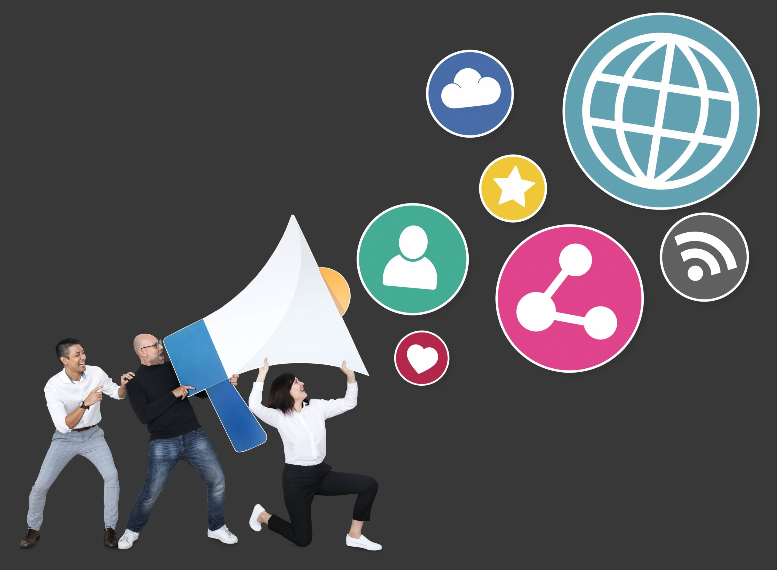 people-with-megaphone-social-media-marketing-icons-min
